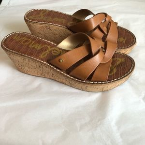 Sam Edelman Raynere Platform Wedge Sandals 8.5